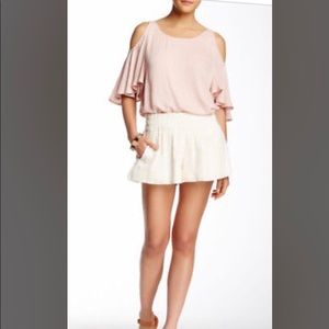 Ella Moss White Smocked Shorts
